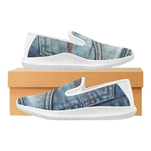 Jeans De Interestprint Slip On Canvas Sneakers Para Mujer Jeans De Bolsillo