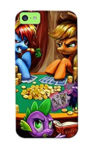Exultantor High Quality Ponies Playing Poker Case For Iphone 5c / Perfect Case For Lovers
