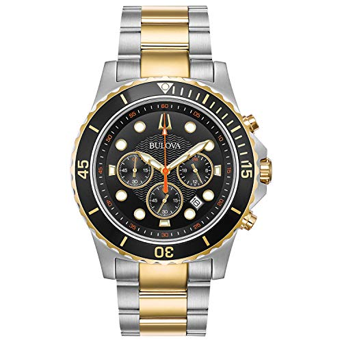 Bulova Men's Quartz Stainless Steel Dress Watch, Color:Two Tone (Model: ()