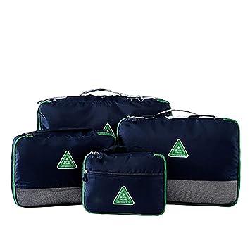 Yishishi Organizadores para Maletas Cubos de Embalaje Grandes para Viajes - Accesorios para Equipaje Organizadores 4 Juego Bolsa con Cremallera (Color ...