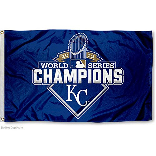 Kansas City Royals 2015 World Series Flag and Banner