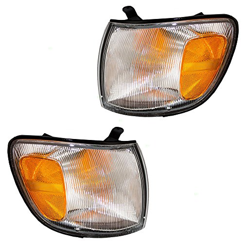 (Driver and Passenger Park Signal Corner Marker Lights Lamps Lenses Replacement for Toyota Van 8152008010 8151008010)