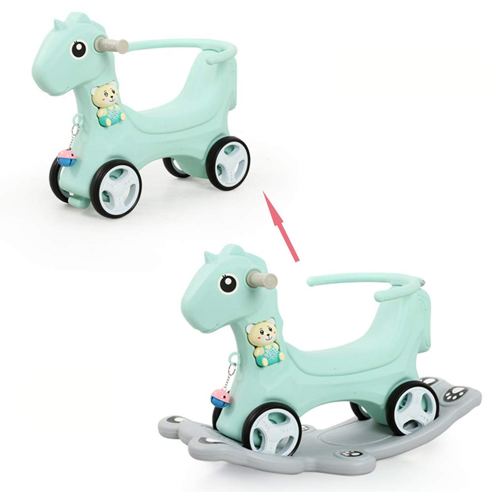 Amazon.com : ALXDR Kids Rocking Horse and Walker 2 in 1 ...