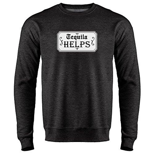 Helps Heather Charcoal Gray 2XL Mens Fleece Crew Neck Sweatshirt ()