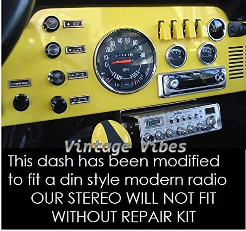 1978-1986 Jeep CJ /& Scrambler 200 watt AM FM Car Stereo//Radio Fits Original Dash Vintage Vibes # VV-CJ-230