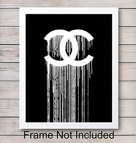 (Chanel Logo Unframed Wall Art Print - Makes a Great Gift for Fashion Lovers and Designers - Perfect for Bedroom, Living Room, Office - Modern Chic Home Decor - Ready to Frame (8x10) Contemporary Photo)