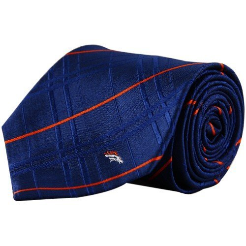 NFL Denver Broncos Men's Woven Silk Oxford Necktie, One Size, Multicolor
