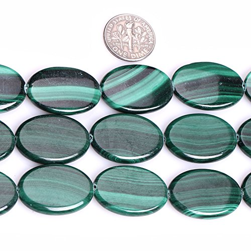 GEM-inside Natural Genuine Malachite Gemstone Loose Beads Oval Shape Energy Stone Power Beads For Jewelry Making 15