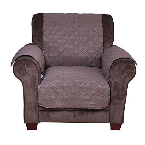 INNOCESSORIES® Pets Anti Slip Water Resistant Chair Loveseat Sofa Furniture  Protector Slipcover (Chair, Chocolate)