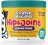 Glucosamine Chondroitin Joint Supplement for Dogs - Natural Dog Arthritis and Pain Relief - Hip and Joint Health for Senior Dogs - MSM, Glucosamine HCL, All Breeds & Sizes - 120 Soft Chews