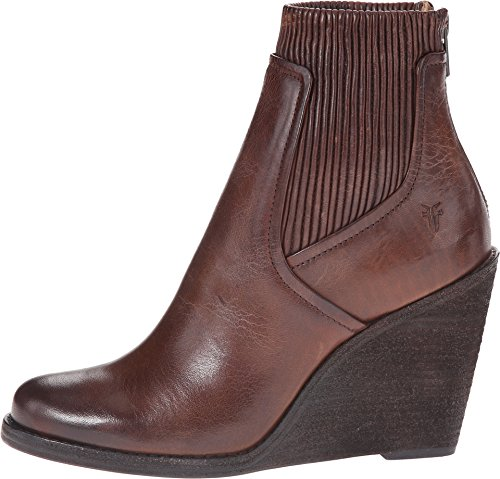 Frye Kvinna Carrie Krama Back-zip Boot Brown