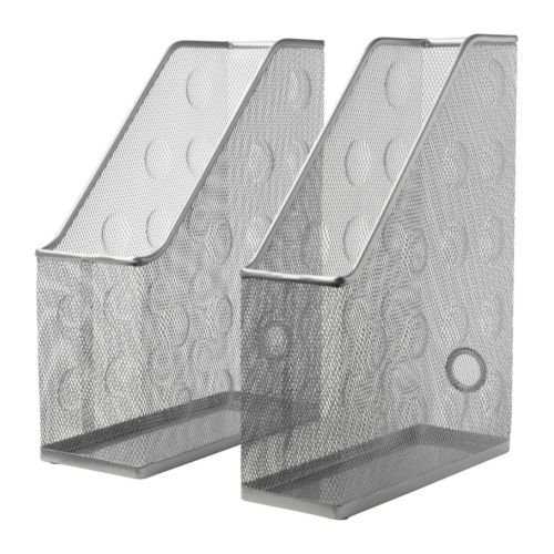 Ikea Dokument Magazine File, Set Of 2, Silver Color