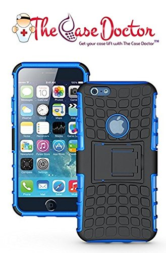 Price comparison product image TCD for Apple iPhone 7 Hybrid Case [BLUE] Grenade Armor Dual Layer [Hard TPU Soft Silicone Mix] Shock Proof Good Grip Protective Multi Use Protection Kickstand