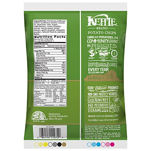 Kettle Brand Potato Chips, Jalapeno, 1.5 oz by KETTLE FOODS (Image #6)