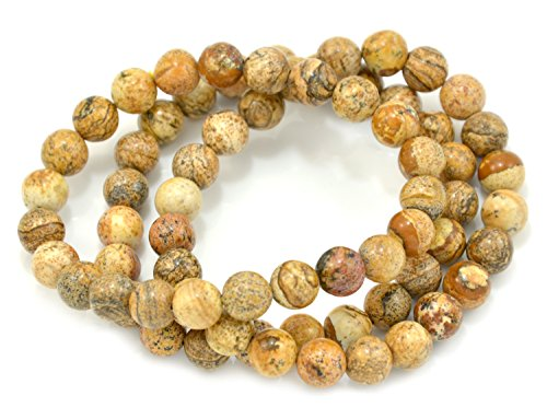 Paialco 6mm Picture Jasper Stretch Beaded Bracelet, Pack of 3