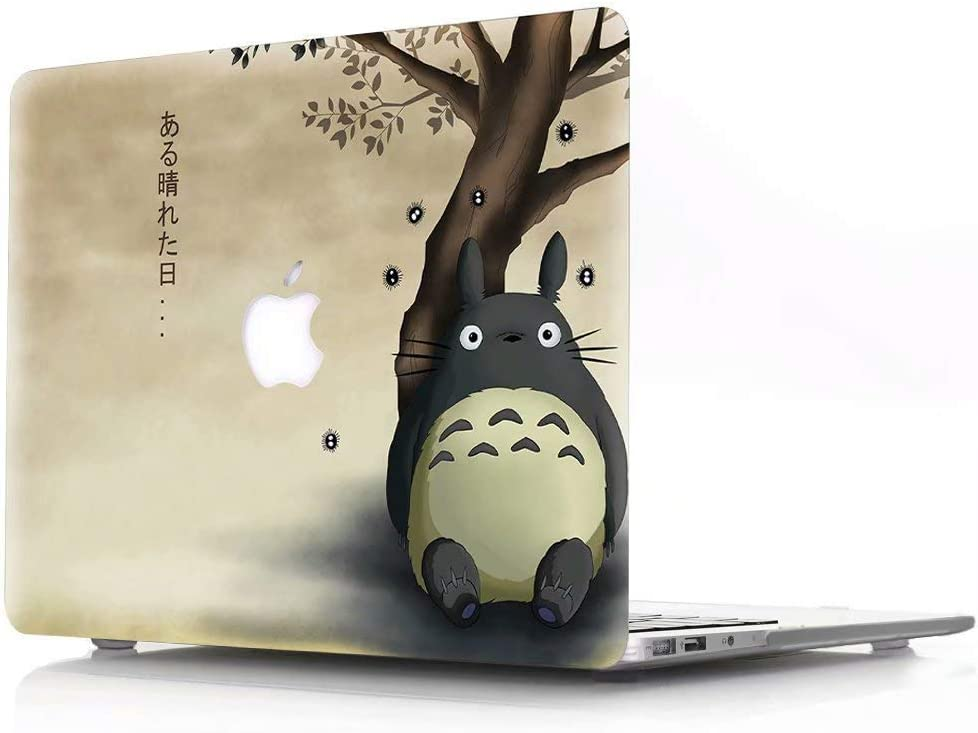 MacBook 12 inch Case, Model A1534 with Retina Display Newest Version 2017, AJYX Anime Series Plastic Hard Case Laptop Shell Cover - JR328 Totoro