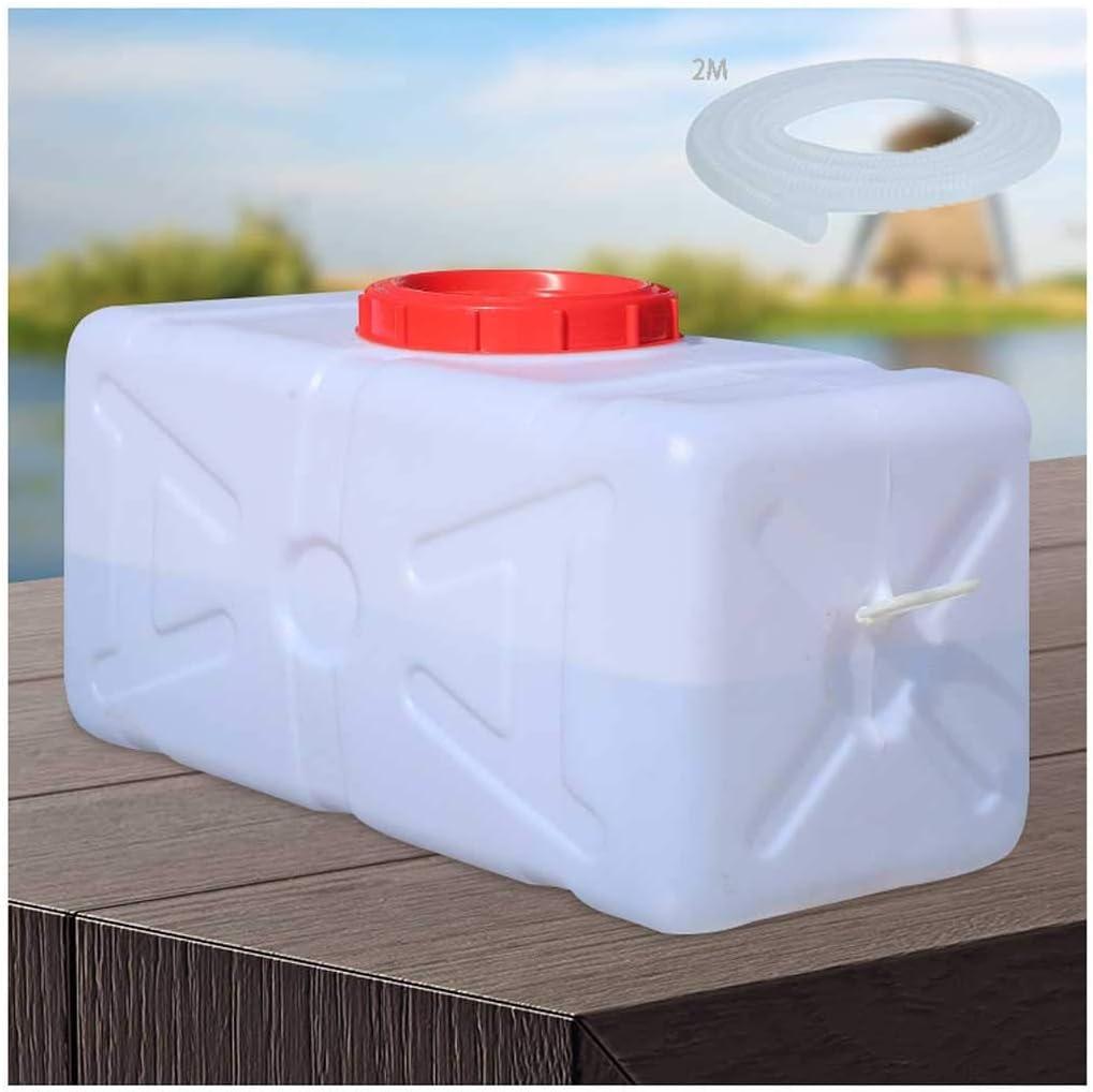 Bidón Plástico con Grifo Depósito de Agua con Grifo, Recipiente de Almacenamiento de Agua Horizontal de Plástico Grueso, Cubo de Almacenamiento 50L, Ideal para Campamento Senderismo Pícnic Coches de V: Amazon.es: Hogar