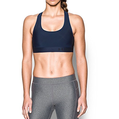 Under Armour Women's Armour Crossback Mid, Midnight Navy/Black, Large