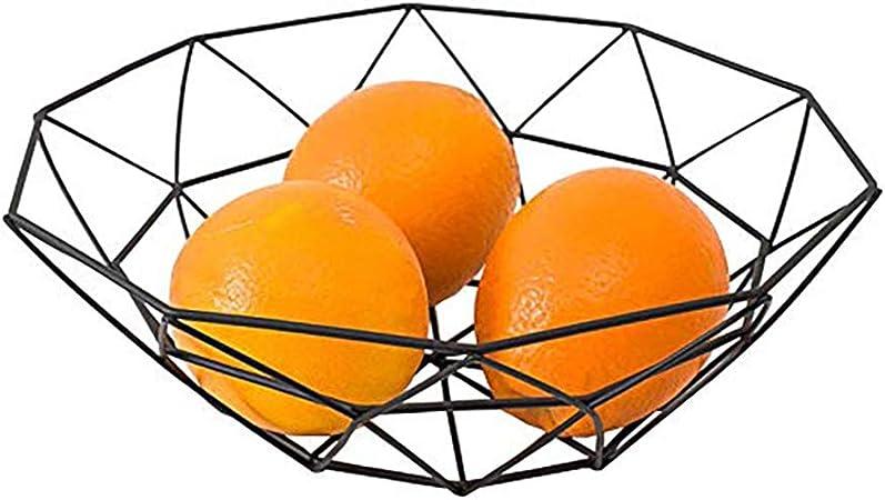 favourall Frutas Cesta Metal Frutero Negro Oro etc. Aperitivos Pan panecillos Cesta de Metal Blanco fruteros Adecuado para Frutas Aperitivos