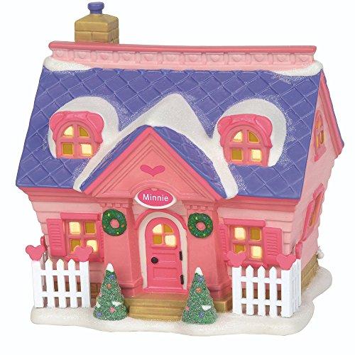 Department 56 Disney Village Minnie s House Lit Building, 5.9 inch, Pink