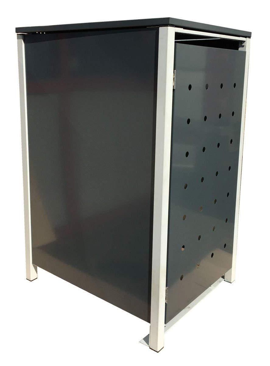 anthrazit pulverbeschichtet Thorwa/® Design Edelstahl Hausnummer modern Avant Garde Stil H: 160mm RAL 7016 3