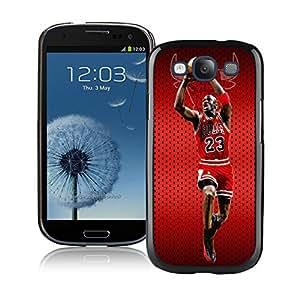 New Custom Design Cover Case For Samsung Galaxy S3 I9300 Michael Jordan 1 Black Phone Case