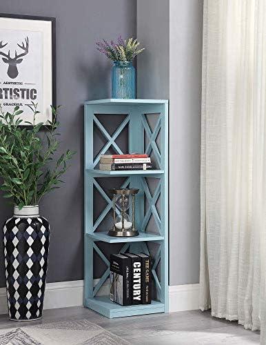 Convenience Concepts Oxford 3 Tier Corner Bookcase
