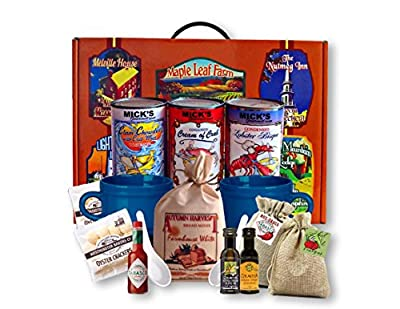 Seafood Lovers Gourmet Lobster Crab and Clam Soup Gift Basket w/ Farmhouse Bread