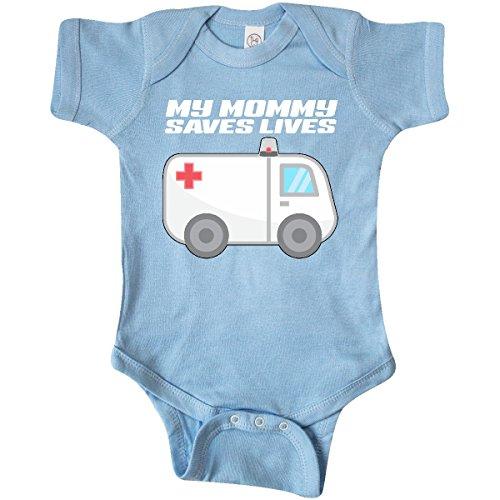 inktastic My Mommy Saves Lives- Ambulance Infant Creeper Newborn Baby Blue
