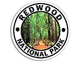 American Vinyl Round Redwood National Park Sticker
