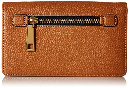 Marc Jacobs Gotham Wallet with Leather Crossbody Strap, Maple - Jacobs Brown Marc