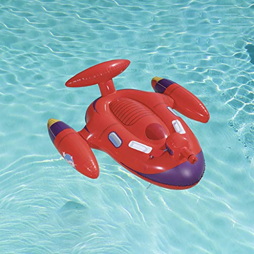 (Aliturtle Hot Summer Aircraft Mounts Inflatable Swimming Air Cushion Child Water Ride Swimming Pool Inflatable Red Toy Plane Water Spray Mounts Thicken Load-Bearing 60KG (A))