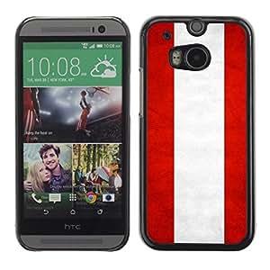 YOYO Slim PC / Aluminium Case Cover Armor Shell Portection //Austria Grunge Flag //HTC One M8