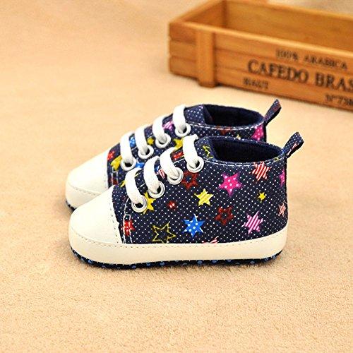 ESHOO bebé niñas niños arco iris suave Prewalkers zapatos de Lienzo Casual zapatos de primera caminantes PG Talla:0-6 meses DLX