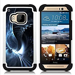 BullDog Case - FOR/HTC ONE M9 / - / Abstract Swirl /- H??brido Heavy Duty caja del tel??fono protector din??mico - silicona suave