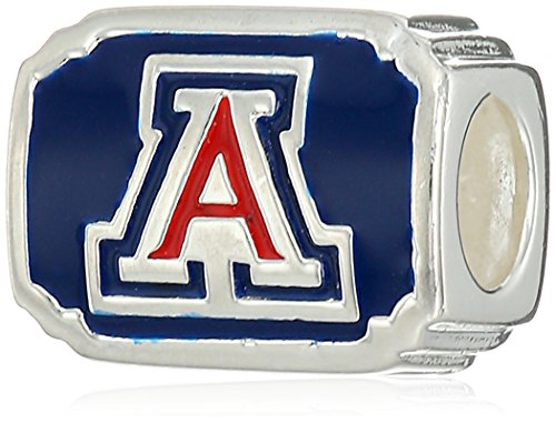 Persona Sterling Silver University of Arizona on Blue/Silver  Bead Charm