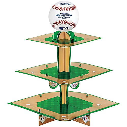 Amscan Rawlings Baseball Treat Stand Party Accessories, 10 3 1