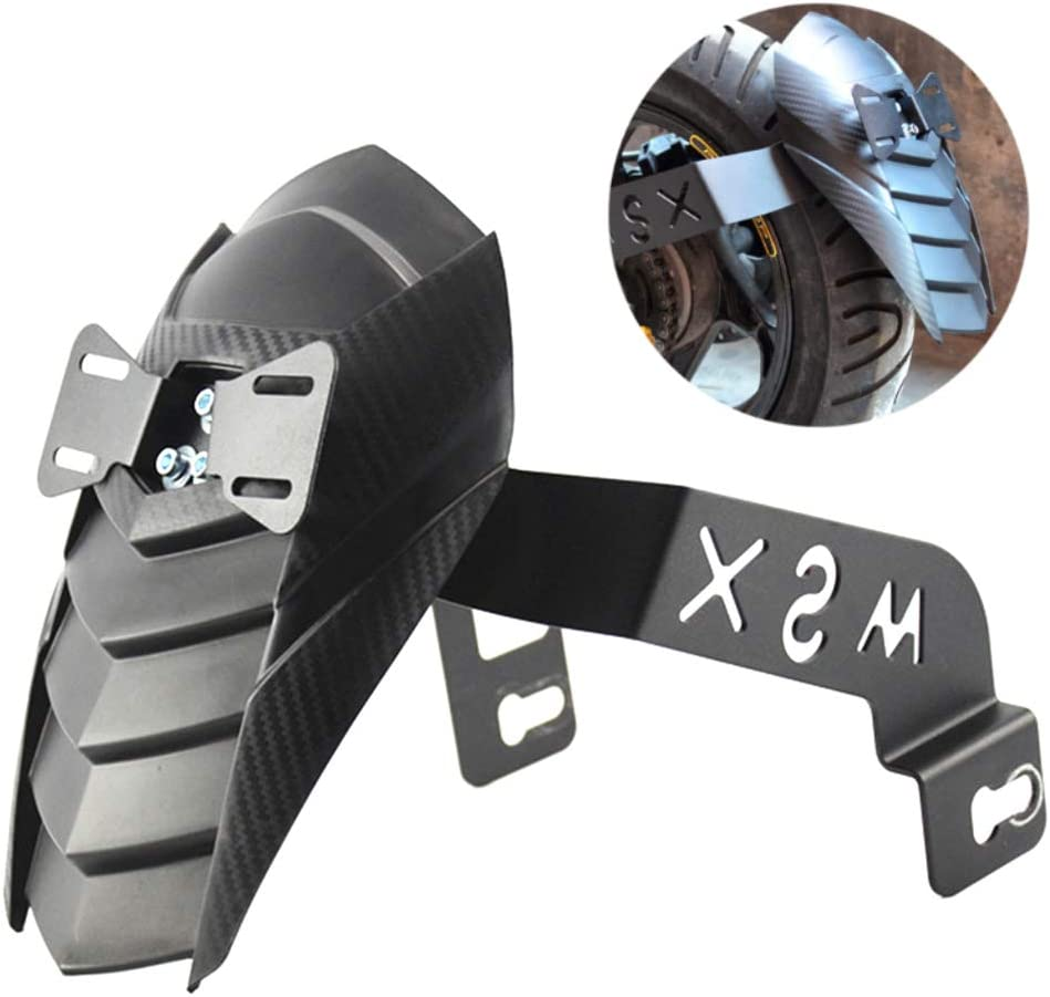 Nrpfell Rear Wheel Splash Guard Cover Tire Hugger with License Plate Bracket for Grom MSX 125 SF Motorbike Black