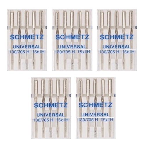 25 Schmetz Universal Sewing Machine Needles 130 705H 15X1h Size 65 9