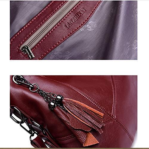Ms black A Pu Borsa 27cm Ahda Bag Semplice Blue Temperamento Pelle 37cm Borsetta Moda Selvaggio 14cm Tracolla Big Femminile BzyqA56z