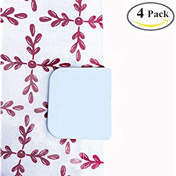 4 Pack BoomYou Anti Splash Self Adhesive Shower Curtain Clips Shower Liner Splash  Guards Curtain