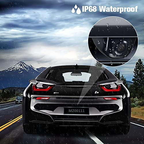 Backup Camera KEELEAD Rear View Camera Night Vision Wide Angle Waterproof Parking Camera with Metal Case Universal Vehicle Reversing Security for Car SUVs