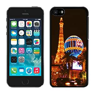 New Fashion Custom Designed Cover Case For iPhone 5C With Las Vegas Night view Black Phone Case