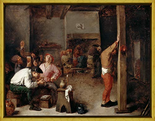 - Berkin Arts Framed Adriaen Brouwer Giclee Canvas Print Paintings Poster Reproduction(Interior a Tavern)