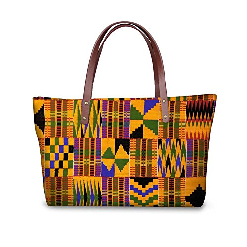 Sannovo African Tribal Ethnic Print Women Tote Shoulder Bags Casual Handbag (Bag Print African)
