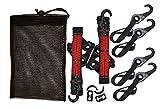 LYNX Hooks® Interlocking Adjustable Gear Strap Stash Bag Kit (Red)
