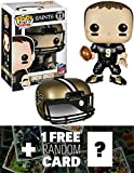Drew Brees - Saints: Funko POP! x NFL Vinyl Figure + 1 FREE Official NFL Trading Card Bundle [45425]
