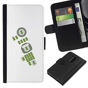All Phone Most Case / Oferta Especial Cáscara Funda de cuero Monedero Cubierta de proteccion Caso / Wallet Case for LG G3 // Green Abstract White Football Soccer