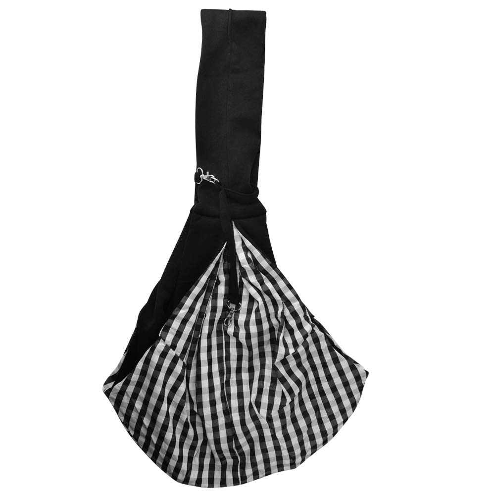 Poualss Reversible Pet Sling Carrier Dogs Cats Hands-Free Soft Pouch Outdoor Travel
