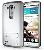 ECOZ [SHIELDX] Protective Tough 3 Layers Armor Rugged Case Cover with Build-In Stand for LG G3 (Silver)